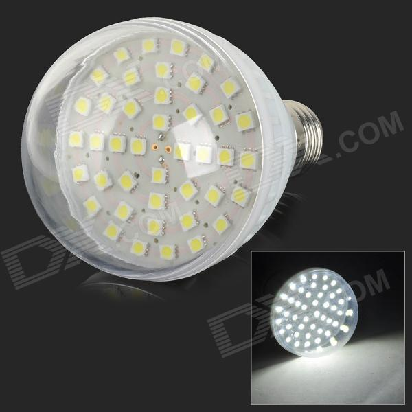 HH45 E27 7W 340lm 6500K 42-SMD 5050 LED White Light Bulb - White + Transparent (AC 220V)