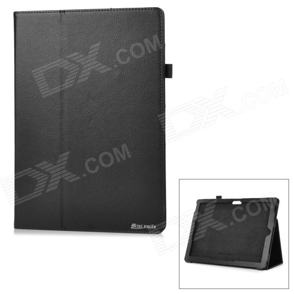 Protective PU Case w/ Stand for Microsoft Surface Pro 3 - Black