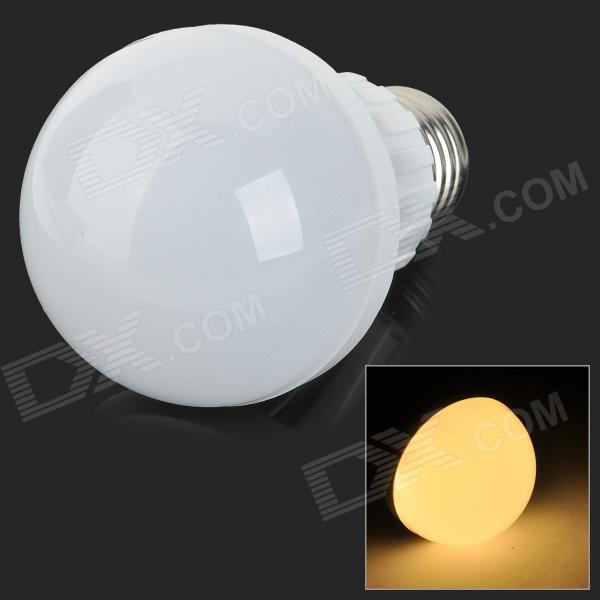 E27 5W 400lm 3500K 16-SMD 2835 LED Warm White Light Bulb - White + Silvery Grey (AC 220~240V)