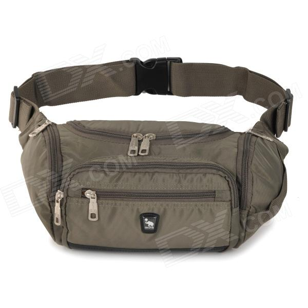 OIWAS Polyester Outdoor Sport Zipper Opening Waist Bag - Dark Grey