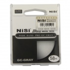 NISI 58mm GC-GRAY Soft Graduated Filter - Black + Grey