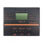 "TWP Solar80 2.4"" LCD 80A 12V /24V PV Panel Battery Charge Solar Controller - Black + Orange"