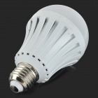 E27 7W 600lm 3500K 22-SMD 2835 LED Warm White Light Bulb - White + Silvery Grey (AC 220~240V)