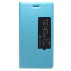 P7-1 Protective Flip Open PU Case w/ Stand + Display Window + Auto Sleep for Huawei Ascend P7 - Blue