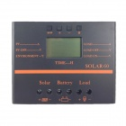 "TWP Solar60 2.4"" LCD 60A 12V /24V PV Panel Battery Charge Solar Controller - Black + Orange"