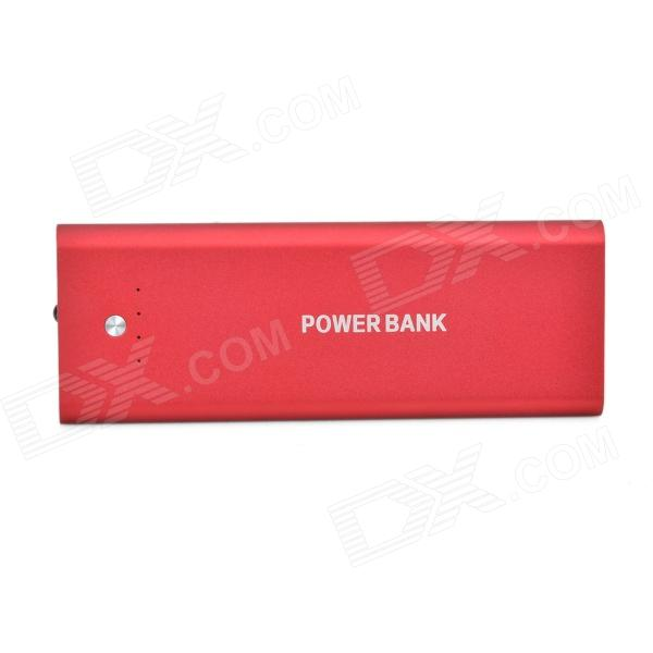 Portable 3000mAh External Li-polymer Battery Power Bank w/ Micro USB Charging Cable - Red micro 5v 1a usb 18650 lithium battery charging board module protection new sell