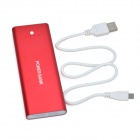Portable 3000mAh External Li-polymer Battery Power Bank w/ Micro USB Charging Cable - Red