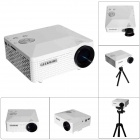 Geekwire LP-6B Portable FHD 1080P LED Projector w/ HDMI, VAG, USB 2.0, AV, SD - White (US Plug)