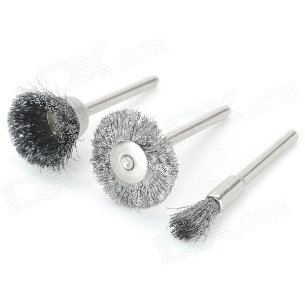 DM-03 DIY Model Making Stainless Steel Grinding Polishing Tool Set - Silver (3 PCS)