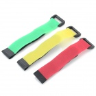 Multifunctional Adjustable Velcro Fixing Band / Strap - Black + Yellow + Multi-Color (3 PCS)