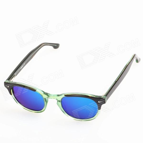 OREKA 14018 Children's Cool Cellulose Acetate Frame Blue REVO Lens UV400 Protection Sunglasses oreka children s cool cellulose acetate frame blue revo lens uv400 sunglasses brown blue