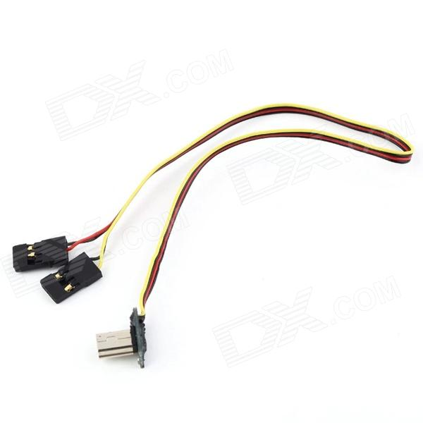 Real-time Video Output FPV Image Transmission AV Cable for Gopro2 / Gopro3 - Black + Red