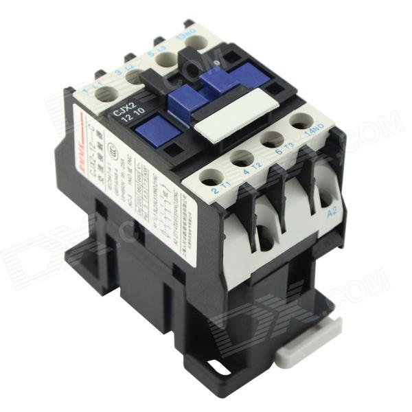 CJX2 (LC1) 1210 25A 220V~660V AC Contactor - Black + White dh48ja 1 999900 count up digital counter relay w base ac 220v 50 60hz