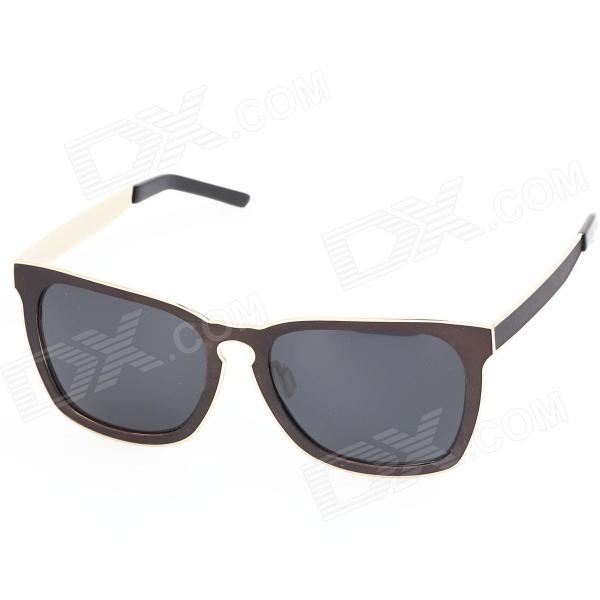 OREKA 1201629 Unisex Stylish High Nickle Alloy Frame Resin Lens UV400 Protection Sunglasses - Brown clip on uv400 protection resin lens attachment sunglasses small