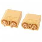 HJ XT90 4.5mm Male to Female Battery Plugs Connectors Set - Yellow (2 PCS)