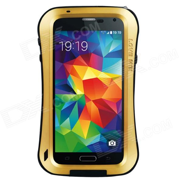 LOVE MEI AL01 Stylish Protective Aluminum Alloy Case for Samsung Galaxy S5 - Golden + Black