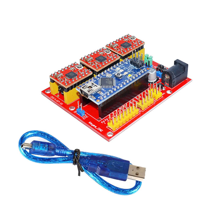 где купить 3DV4 CNC Shield V4 + Nano 3.0 + Reprap Stepper Drivers Set for Arduino по лучшей цене