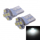 LY609 T10 1W 15lm 6000K 1210 SMD LED White Light Car License Plate Light / Indoor Lamp (12V / 2PCS)