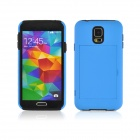 Angibabe Silicone + PC Case w/ Stand for Samsung Galaxy S5 - Blue
