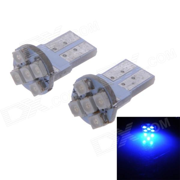 T10 1W 10lm 450nm 1210 SMD LED luz azul placa de matrícula / lámpara de interior (12V / 2PCS)