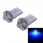 T10 1W 10lm 450nm 1210 SMD LED Blue Light Car License Plate Light / Indoor Lamp (12V / 2PCS)