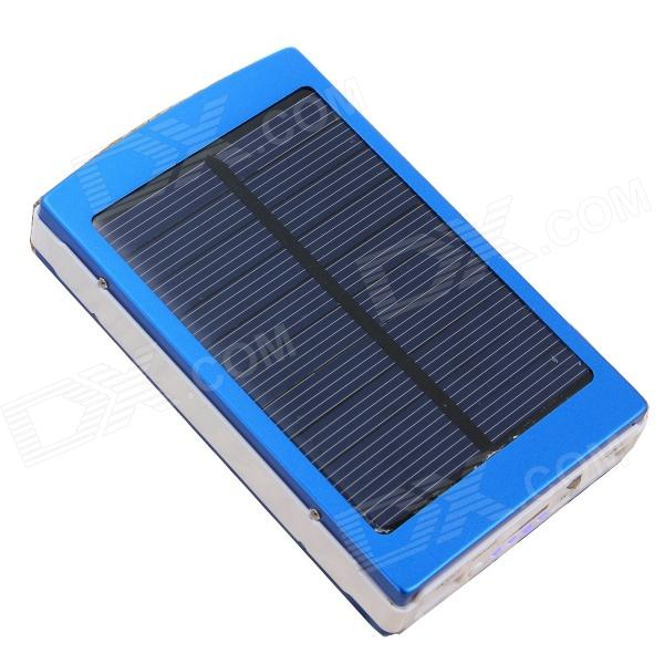 SOA-011 Portable Solar Panel Powered 30000mAh Li-ion Battery Power Bank - Blue 100w folding solar panel solar battery charger for car boat caravan golf cart