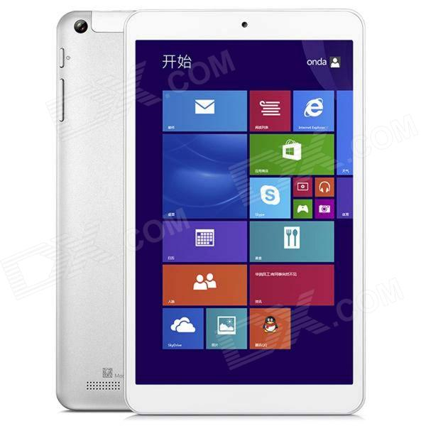 "Onda V819W 8.0"" Quad Core Windows 8.1 Tablet PC 1GB RAM, 16GB ROM, WiFi, Bluetooth - valkoinen"