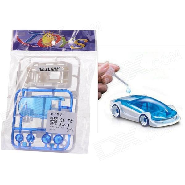 NEJE YW0006-1 DIY Assembly Dynamic Creative Saline Salt Water Powered Toy Car - Blue + White rm1 2337 rm1 1289 fusing heating assembly use for hp 1160 1320 1320n 3390 3392 hp1160 hp1320 hp3390 fuser assembly unit