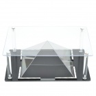 Akryyli Holographic 3D Display Case for Tabletit - Musta