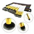 IN-Color YF-115 Professional Make-up Brushes - White + Golden (10 PCS)