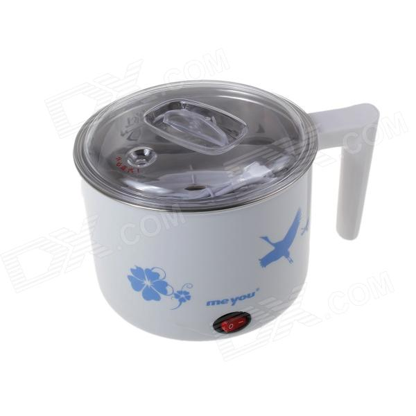 HB-D02 ABS Multifunction 400W Electric Cooker - White (1L / 220V) 220v household electric multifunction double hot pot