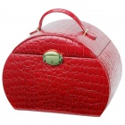 VLANDO V14005 Luxurious Crocodile Patterned PU Jewelry Storage Box - Red