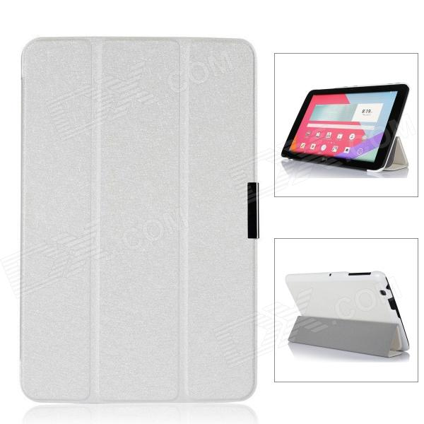 Protective PU Leather Case Cover w/ Magnetic Closure for LG G Pad 10.1 - White yi yi protective tpu back case cover w screen protector for lg g pad v500 purple