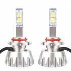MZ 9006 30W MK-R 2400lm 6000K 2-LED White Light Car Fog Lamps w/ Cree - Silver (12~24V / 2 PCS)
