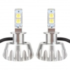 MZ H3 30W MK-R 2400lm 6000K 2-LED White Light Car Fog Lamps w/ Cree - Silver (12~24V / 2 PCS)