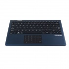 2.4GHz Bluetooth V3.0 87-key Ergonomic Keyboard w/ Touchpad - Black + Blue