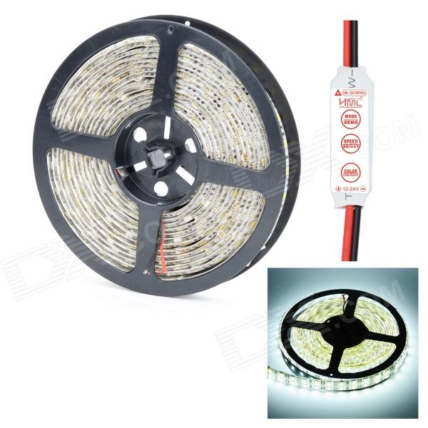 HML IP65 Dual Row 144W 6000lm 6500K 5050 x 600 SMD LED White Light Strip w/ HML Mini Control (12V)