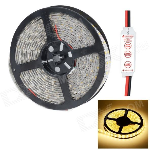 HML IP65 Dual Row 144W 6000lm 5050 x 600 SMD LED Warm White Light Strip w/ HML Control (12V / 5M)