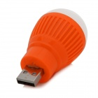 F-503 Mini 3W 22lm 1-LED White Light USB Bulb - Orange