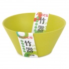ALOCS TW-411 Outdoor Camping Travel Picnic Bamboo Bowl - Grass Green