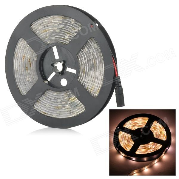 SENCART Waterproof 38W 1500LM 3500K 150 x 5050 SMD LED Warm White Light Strip - White (DC 12V / 5M)