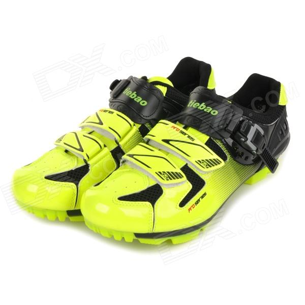 TieBao Stylish Mountain Bike Bicycle Cycling Riding Shoes - Yellow Green + Black (Size 42 /  Pair)