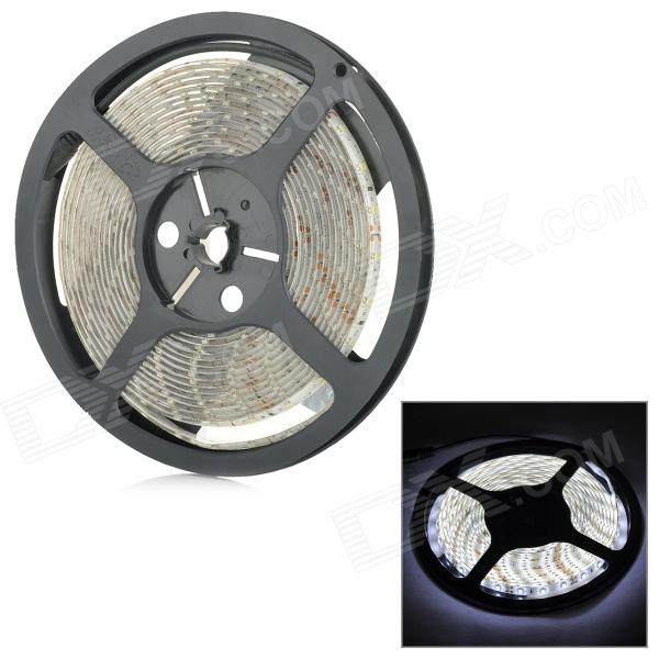 SENCART Waterproof 12W 900lm 9500K 300-SMD 3528 LED Cool White Light Strip - White (DC 12V / 5M)