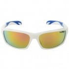 KALLO Fashionable TR90 Frame Resin Lens UV400 Protection Polarized Sport Goggles - White + Blue