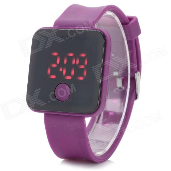 ShiFenMei SF-0001 Stylish Silicone Band Digital LED Sport Wristwatch - Deep Purple (1 x 2016)