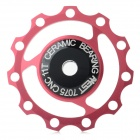 AEST YPU09A-14 Bike Bicycle Ultra Light 3-Axle 11T Ceramic Wheels Rear Derailleur Pulley - Red