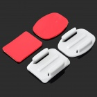 Universal Mount + 3M Adhesive Set for Gopro Hero 3 / Hero 2 / Hero - White + Red (2 Set)