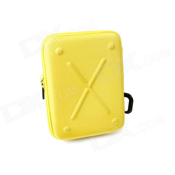 TMC Protective EVA + Nylon Camera Storage Bag Pouch for GoPro HD Hero 3+ / 3 / 2 - Yellow (Size M) fenvi g 270 protective camera eva storage case bag for gopro hero 4 3 3 2 sj4000 acu camouflage