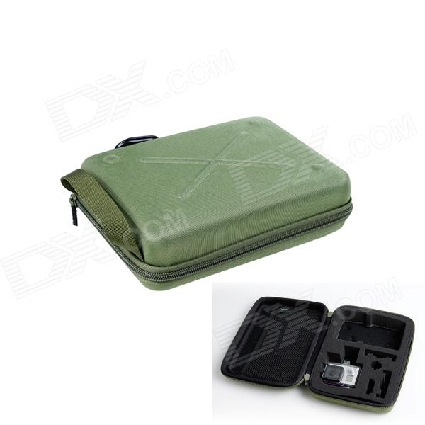TMC Protective EVA + Nylon Camera Storage Bag for GoPro HD Hero 3+ / 3 / 2 - Army Green (Size M) fenvi g 270 protective camera eva storage case bag for gopro hero 4 3 3 2 sj4000 acu camouflage