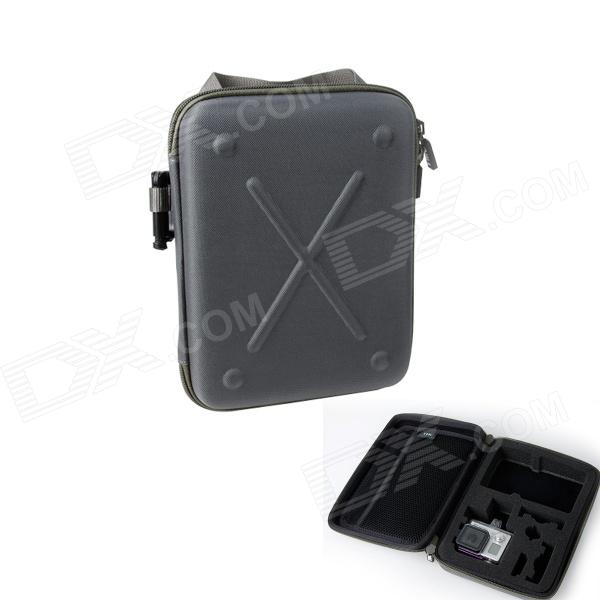 TMC Protective EVA + Nylon Camera Storage Bag Pouch for GoPro HD Hero 3+ / 3 / 2 - Grey (Size M) fenvi g 270 protective camera eva storage case bag for gopro hero 4 3 3 2 sj4000 acu camouflage